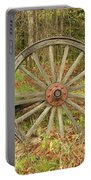 Wood Spoked Wheel Portable Battery Charger