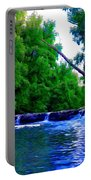 Wooded Waterfall Portable Battery Charger by Bill Cannon