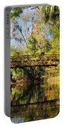 Wooden Bridge Over The Hillsborough River Portable Battery Charger