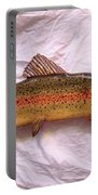 Wooden Rainbow Trout Number Nine Portable Battery Charger