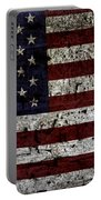 Wooden Textured Usa Flag2 Portable Battery Charger