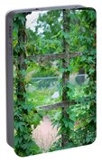 Wooden Trellis And Vines Portable Battery Charger