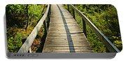 Wooden Walkway Through Forest Portable Battery Charger