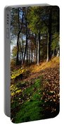 Woods During Autumn Portable Battery Charger