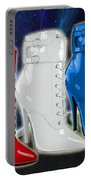 World Domination In Red White And Blue Boots Portable Battery Charger