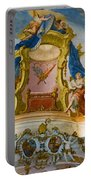 World Heritage Frescoes Of Wieskirche Church In Bavaria Portable Battery Charger