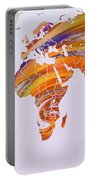 World Map Abstract Painted Portable Battery Charger