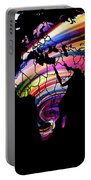 World Map Abstract Painting 2 Portable Battery Charger