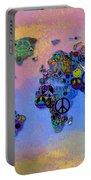 World Peace Tye Dye Portable Battery Charger