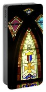 Wrc Stained Glass Window Portable Battery Charger