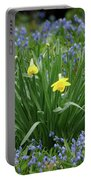 Yellow And Blue Flowers Portable Battery Charger