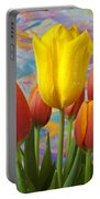 Yellow And Orange Tulips Portable Battery Charger