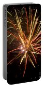 Yellow And Red Fireworks Portable Battery Charger