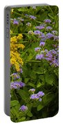 Yellow And Violet Flowers Portable Battery Charger