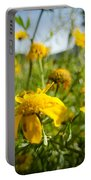 Yellow Blooming Wildflowers Portable Battery Charger