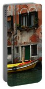 Yellow Boat Venice Italy Portable Battery Charger
