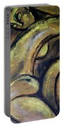 Yellow Caryatid - Nudes Gallery Portable Battery Charger