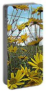 Yellow Flowers By The Roadside Portable Battery Charger