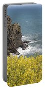 Yellow Flowers On The Northern California Coast Portable Battery Charger