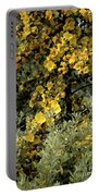 Yellow Flowers On Tree Portable Battery Charger