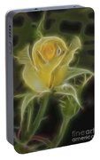 Yellow Fractalius Rose Portable Battery Charger