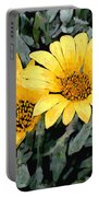 Yellow Gazanias Portable Battery Charger