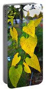 Yellow Heart Leaves  Photoart I Portable Battery Charger
