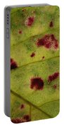 Yellow Leaf With Red Spots 2 Portable Battery Charger