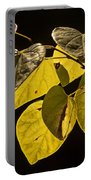 Yellow Leaves On A Tree Branch Portable Battery Charger