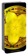 Yellow Lily Kaleidoscope Under Glass Portable Battery Charger