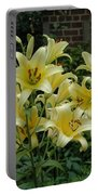 Yellow Oriental Stargazer Lilies Portable Battery Charger