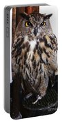 Yellow Owl Eyes Portable Battery Charger