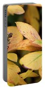 Yellow Petal Leaf With Sprig Portable Battery Charger