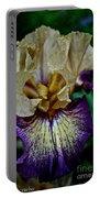 Yellow  Purple Iris Portable Battery Charger