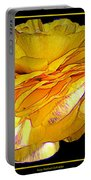 Yellow Ranunculus Flower With Blue Colored Edges Effect Portable Battery Charger