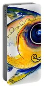 Yellow Study Fish Portable Battery Charger by J Vincent Scarpace