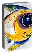 Yellow Study Fish Portable Battery Charger