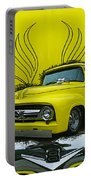 Yellow Truck In Truck Grill Portable Battery Charger