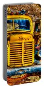 Yellow Trucks Portable Battery Charger