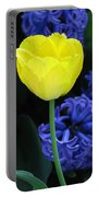 Yellow Tulip And Hyacinth Portable Battery Charger