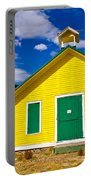 Yellow Western School House Portable Battery Charger