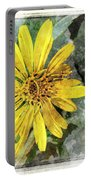 Yellow Wildflower Photoart Portable Battery Charger