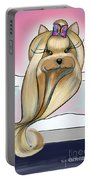 Yorkie Rapunzel Portable Battery Charger