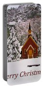 Yosemite Chapel - Christmas Card Portable Battery Charger