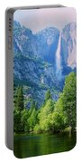 Yosemite Falls And Merced River Portable Battery Charger