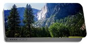 Yosemite Falls From The Ahwahnee Portable Battery Charger