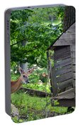 Young Buck At Treehouse Hopatcong Portable Battery Charger