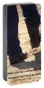 Young Cowboy With Spurs Portable Battery Charger