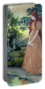 Young Girl In A Garden  Portable Battery Charger