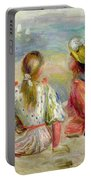 Young Girls On The Beach Portable Battery Charger